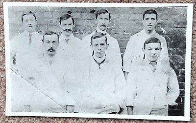Photograph Postcard Of A Part Team Of Cricketers/Bowls Players From Prudhoe Area