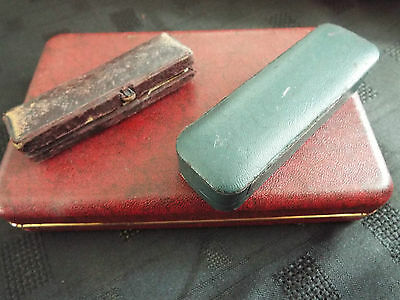 Vintage Boxes....job Lot 2 X Jewellery Box And Cigar Holder Case
