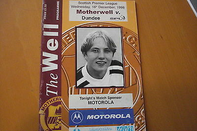 Motherwell V Dundee                                                     16/12/98