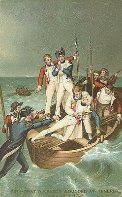 Sir Horatio Nelson Wounded At Tenerife July 24Th 1797 Jj Keliher & Co C1910