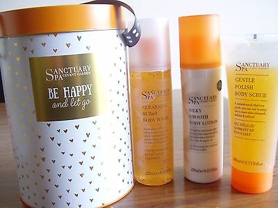 New Lovely Sanctuary Spa Be Happy And Let Go Gift Set Tin ......full Size !!