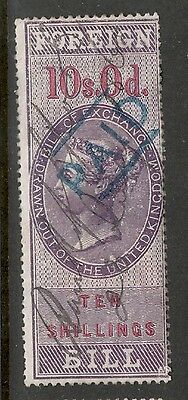 Queen Victoria - 10s 0d - Foreign Bill - Good Condition