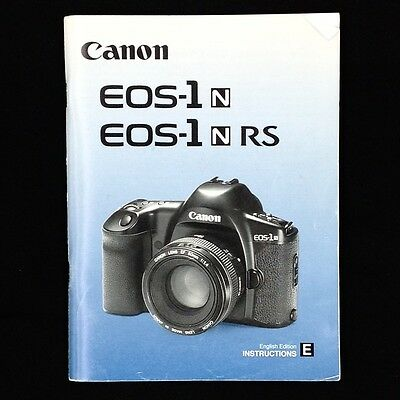 Canon EOS 1N / 1N RS Camera Instruction Manual/Book, English #39919