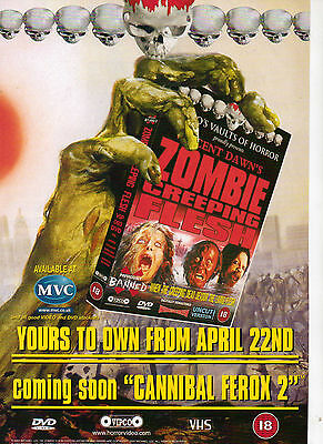 A4 Advert for the Video / DVD Release of Zombie Creeping Flesh