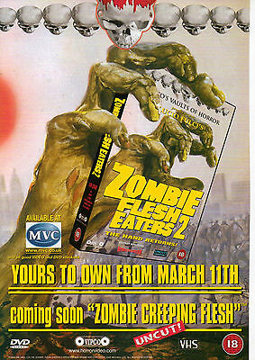 A4 Advert for the Video / DVD Release of Zombie Flesh Eaters 2