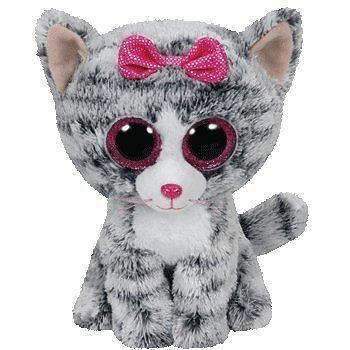 Ty Beanie Boos - KiKi the Cat Soft Cuddly Plush Collecible Toy