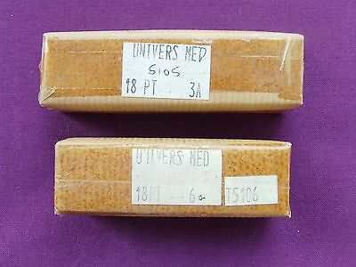 Letterpress Printing ADANA Small Fount 18pt UNIVERS MED 824g Unopened Packets
