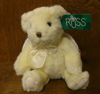 """Russ Berrie Plush #100355 ATHENA, 8"""" sitting, From Retail Store, Feather Wings"""
