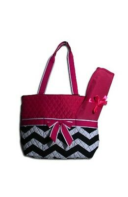 Pink Chevron Quilted Diaper Bag w/ Changing Pad!-New Arrival