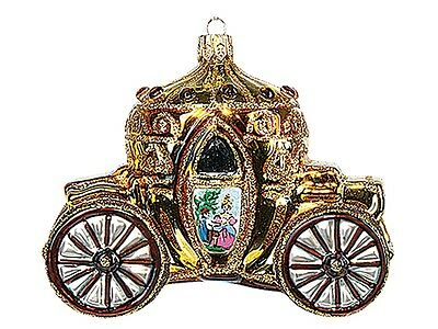 Wedding Carriage Polish Mouth Blown Glass Christmas Ornament  Tree Decoration