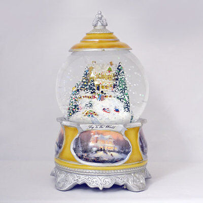Set of 5 Christmas Water / Snow Globe Songs of the Season Thomas Kinkade