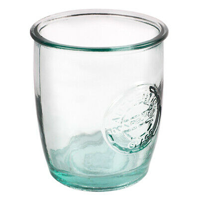 Authentic Recycled Glass Tumblers 400ml - Set of 6 - Green Glass Highball Glasse