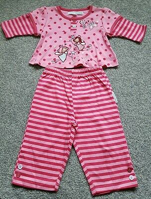 Baby Girls top shirt by NURSERY TIME. 2 piece set. Size 3-6 months. BRAND NEW