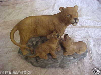 Panther  With  Babies   Figurine