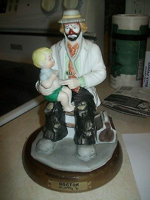 """doctor"" Flambro, Emmett Kelly, Jr. Figurine, Signed, 7 In. Professional Series"