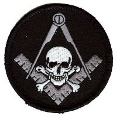 Widows Sons Skull Square Mason Embroidered Patch