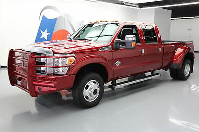 2016 Ford F-350  2016 FORD F350 PLATINUM CREW 4X4 DIESEL SUNROOF NAV 17K #A27330 Texas Direct
