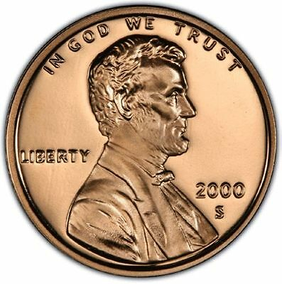 2000 S Proof Lincoln Memorial Cent - One Single Penny - Gem Brilliant