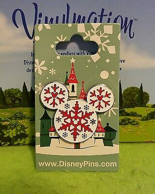 Disney Pin New on Card Christmas Holiday Mickey Mouse Ears Wreath Ornament