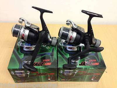 2 New Lineaeffe Vigor Jade 30 Coarse Spinning Fishing Reels With Grey Line 030
