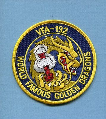 Early VFA-192 GOLDEN DRAGONS US NAVY F-18 HORNET Fighter Squadron Jacket Patch