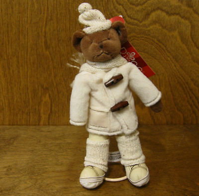 """Russ Berrie Old World Teddies #4812 CALDWELL, 7"""" w/ Stand NEW From Retail Store"""