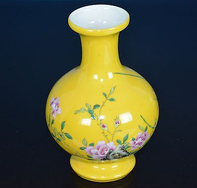 Exquisite Antique Chinese Famille Rose Porcelain Vase Marked Yongzheng Rare Y297