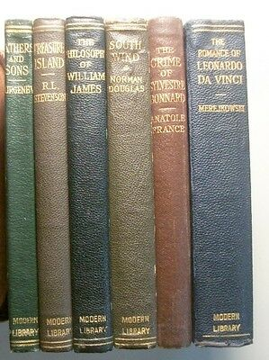 THE MODERN LIBRARY:  Lot of 6 early limp leather titles.