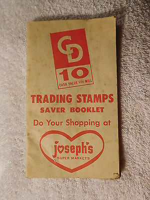 "VINTAGE TOLEDO, OHIO ""JOSEPH'S SUPERMARKET"" SAVINGS Trading STAMPS store booklet"