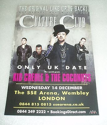 CULTURE CLUB Kid Creole and The Coconuts Original UK PROMO FLYER Boy George