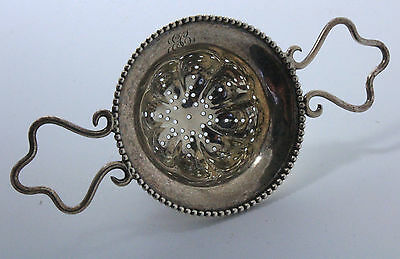 Sterling Silver Tea Strainer Over the Cup