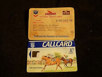 Vintage CHEVRON National Credit Card with Dealer Map 1951 Paper  & Other