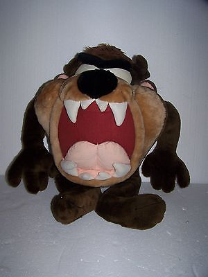 "VTG Ace Looney Tunes Large Taz Plush Figure Toy 24"" Rare"