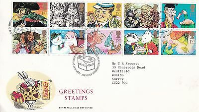GB 1993 Greetings Stamps FDC VGC