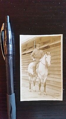 Original Wwii Japanese Photo: Army Cavalry Soldier!!