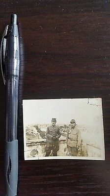 Original Wwii Japanese Photo: Army Officer And Soldier, China War!!