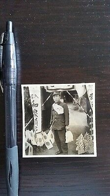 Original Wwii Japanese Photo: Army Soldier Going To War In China!!