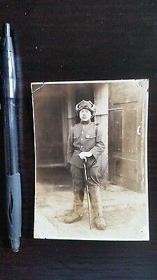 Original Wwii Japanese Photo: Army Winter Soldier With War Sword!!