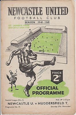 NEWCASTLE UNITED v HUDDERSFIELD TOWN 48-49 LEAGUE MATCH