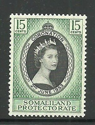 Album Treasures Somaliland Protectorate Scott # 127  Elizabeth Coronation MNH