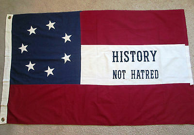 7 Star Confederate Civil War Flag, 1st National Flag, HISTORY not HATRED