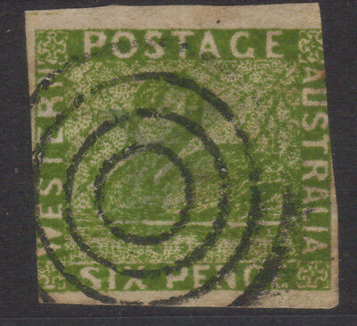 Western Australia 1860 - 6 Pence Swan - Green  - Classic Spiro Forgery