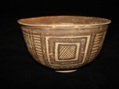 Ebay BEST! PAINTED BOWL!  EARLY BRONZE AGE~3000BC    ANCIENT archaeolgy