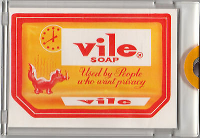 1973 WACKY PACKAGES Series 2 VILE SOAP Proof Topps Vault Rare Gum Sticker Card