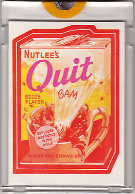 1973 WACKY PACKAGES Series 2 NUTLEES QUIT Proof Topps Vault Rare Gum Sticker