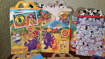 Collection of McDonalds Happy Meal Boxes