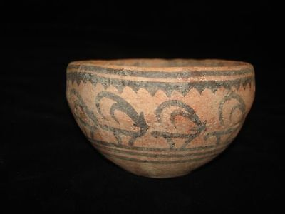 NONE BETTER!    ANCIENT PAINTED BOWL! FROM EARLY BRONZE AGE! 3000BC~~~no reserve