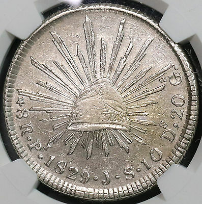 1829-Pi NGC XF MEXICO Silver 8 reales RARE Date (16110407C)