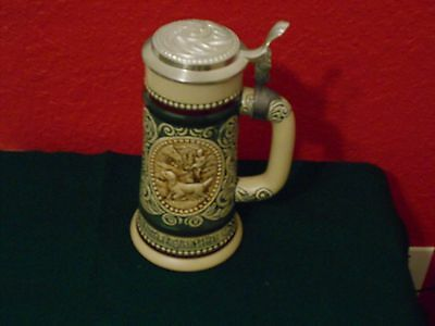 Avon Lidded Beer Stein, At Point...English Setter & The Strike...Rainbow Trout