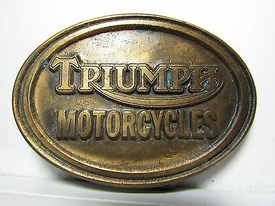 Vintage Belt Buckle Triumph Motorcycles oval motorcycle